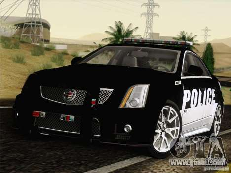 Cadillac CTS-V Police Car for GTA San Andreas back left view