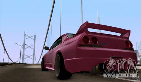 Nissan Skyline GTR 33 Fatlace for GTA San Andreas right view