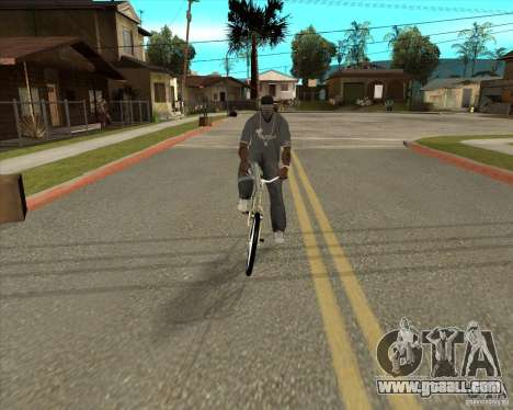 New bike for GTA San Andreas back left view