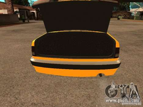 Gaz-31105 Volga Taxi for GTA San Andreas upper view