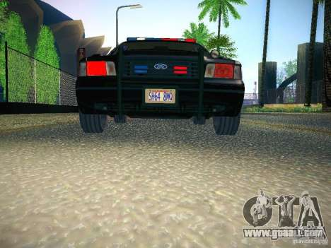 Ford Crown Victoria Police Intercopter for GTA San Andreas side view