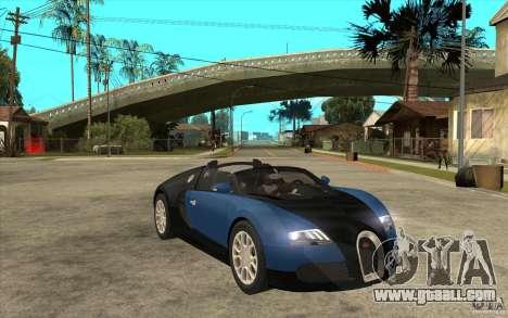 Bugatti Veyron Gran Sport 2011 for GTA San Andreas back view