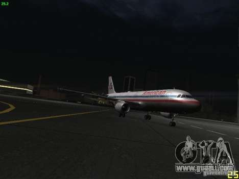 Airbus A320 for GTA San Andreas inner view
