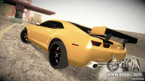 Chevrolet Camaro SS Transformers 3 for GTA San Andreas back left view