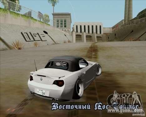 BMW Z4 Hellaflush for GTA San Andreas back view