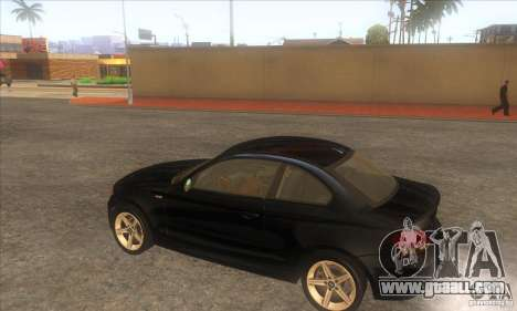 BMW 135i (E82) for GTA San Andreas right view