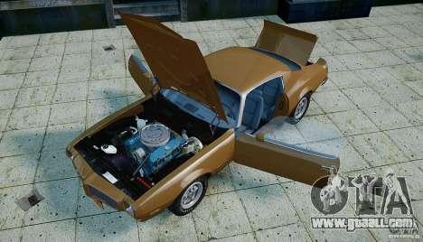 Pontiac Firebird 1970 for GTA 4 upper view