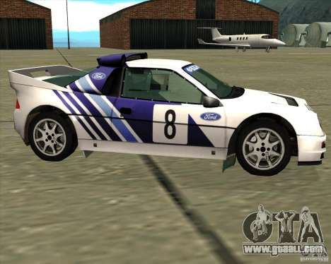 Ford RS200 rally for GTA San Andreas left view