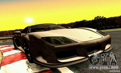 Noble M600 2010 V1.0 for GTA San Andreas inner view