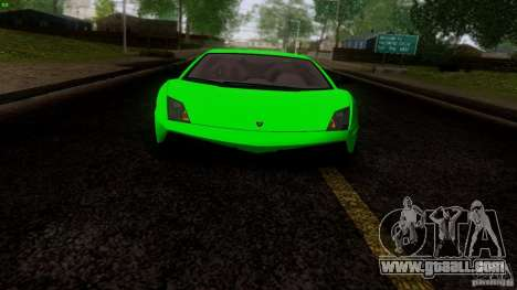 Lamborghini Gallardo LP570-4 Superleggera for GTA San Andreas back view