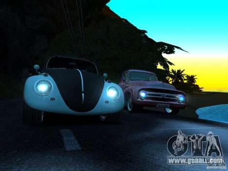 Volkswagen Fusca 1966 Tuning for GTA San Andreas back view
