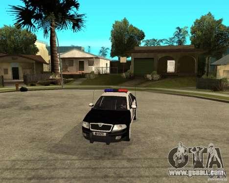 Skoda Octavia II 2005 SAPD POLICE for GTA San Andreas inner view