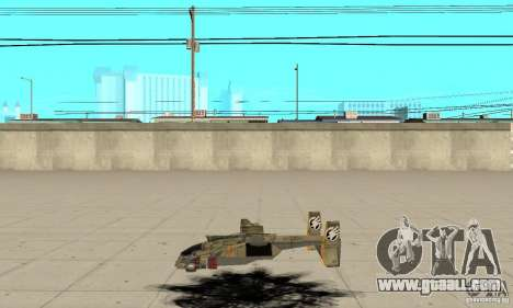 Hawk for GTA San Andreas left view