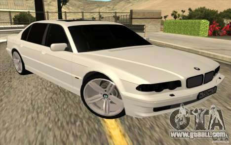 BMW 750iL E38 for GTA San Andreas back left view