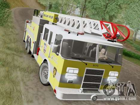 Pierce Arrow XT BCFD Tower Ladder 4 for GTA San Andreas side view