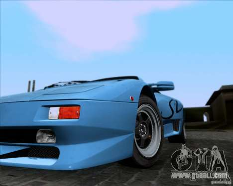 Lamborghini Diablo SV V1.0 for GTA San Andreas bottom view