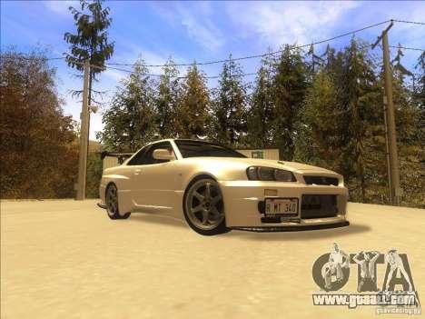 Nissan Skyline GT-R BNR34 Tunable for GTA San Andreas