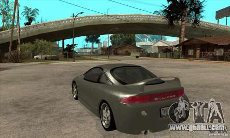 Mitsubishi Eclipse GSX - Stock for GTA San Andreas back left view