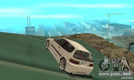 Honda Civic SiR II Tuning for GTA San Andreas back left view