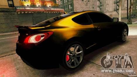Hyundai Genesis Coupe 2010 for GTA 4 left view