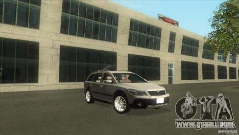 Skoda Octavia Scout for GTA San Andreas right view
