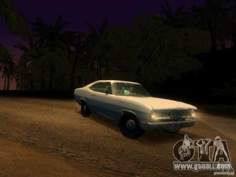 Plymouth Duster 1972 for GTA San Andreas inner view