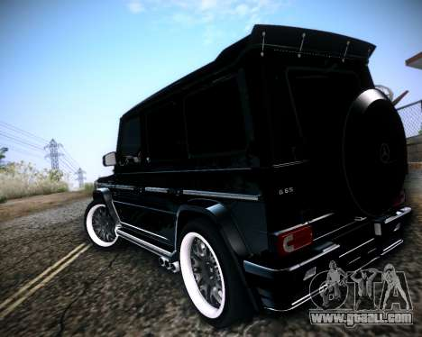 Mercedes-Benz G65 AMG 2013 Hamann for GTA San Andreas right view