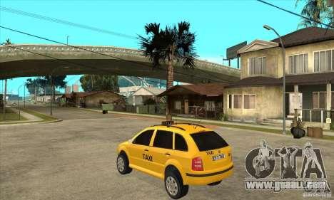 Skoda Fabia Combi Taxi for GTA San Andreas back left view