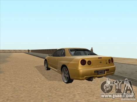Nissan Skyline R34 VeilSide for GTA San Andreas back left view