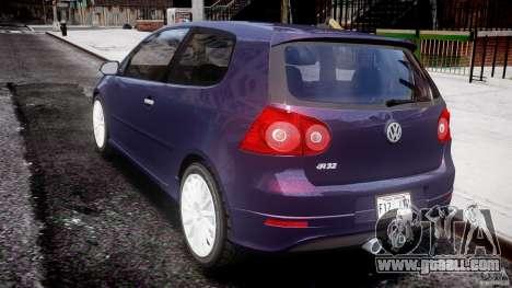 Volkswagen Golf R32 v2.0 for GTA 4 back left view