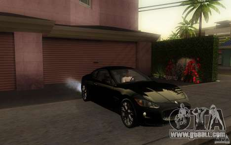Maserati Gran Turismo S 2011 for GTA San Andreas left view