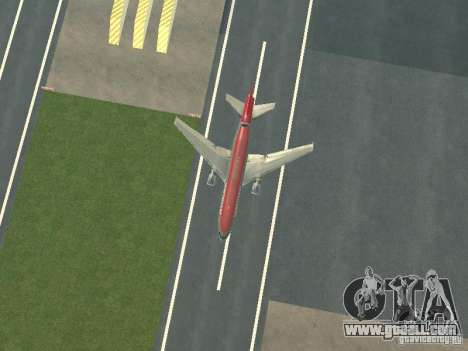 McDonell Douglas DC 10 Nortwest Airlines for GTA San Andreas inner view