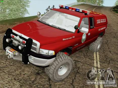 Dodge Ram 3500 Search & Rescue for GTA San Andreas side view