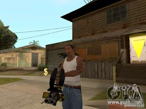 Minigun for GTA San Andreas second screenshot