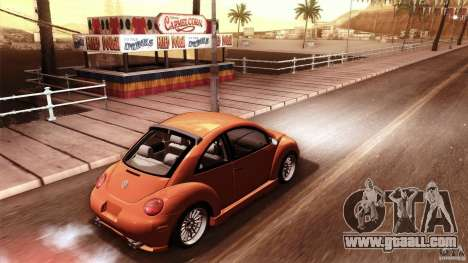 Volkswagen Beetle RSi Tuned for GTA San Andreas interior