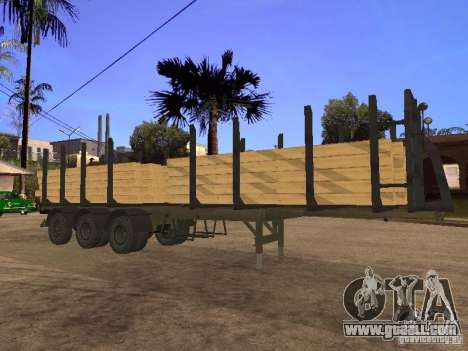 Trailer MAZ 99864 for GTA San Andreas side view