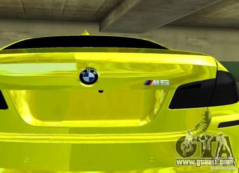 BMW M5 F10 Gold for GTA San Andreas right view