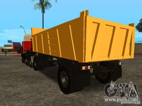 GKB 8350 Flatbed for GTA San Andreas back left view