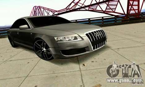 Audi A6 Blackstar for GTA San Andreas back view