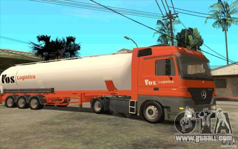Mercedes-Benz Actros for GTA San Andreas back view