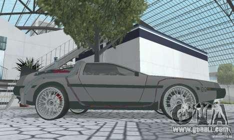 DeLorean DMC-12 (BTTF2) for GTA San Andreas right view