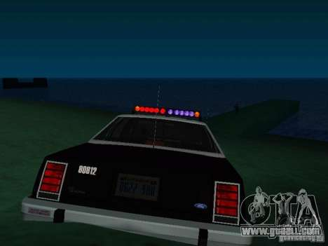 Ford Crown Victoria LTD 1992 SFPD for GTA San Andreas back left view