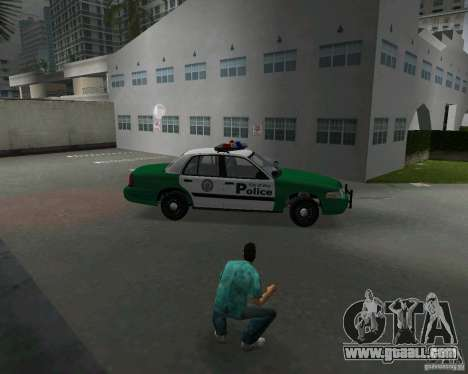 Ford Crown Victoria 2003 Police for GTA Vice City inner view