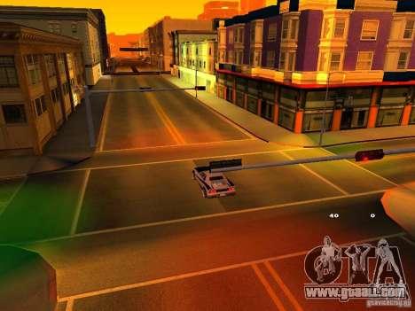 New Cheetah for GTA San Andreas inner view