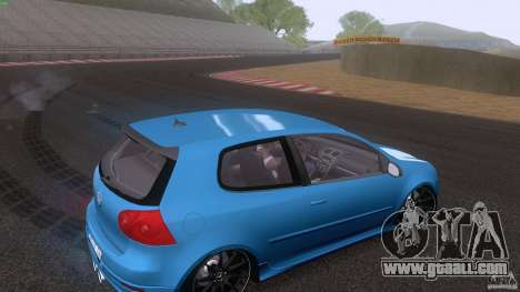 VW Golf 5 R32 2006 StanceWorks for GTA San Andreas side view