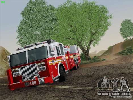 Seagrave Marauder. F.D.N.Y. Tower Ladder 186 for GTA San Andreas inner view