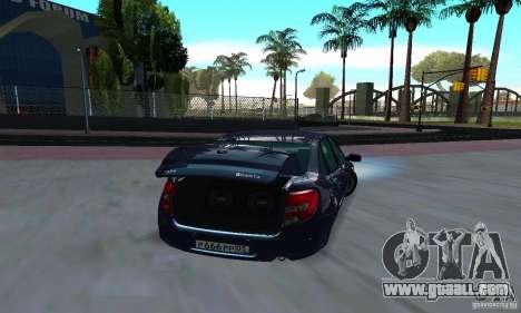 Lada Granta Low for GTA San Andreas right view