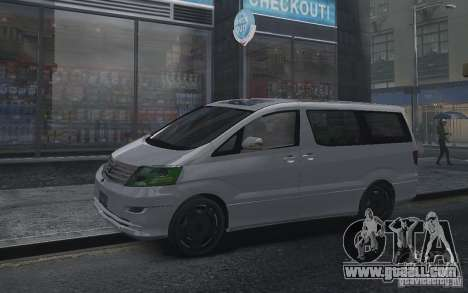 Toyota Alphard v2.0 for GTA 4 right view