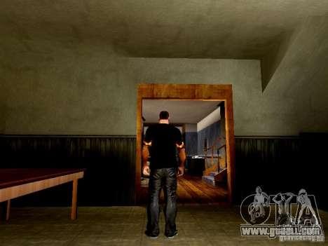 Black t-shirt with a skull for GTA San Andreas third screenshot