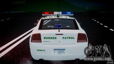 Dodge Charger US Border Patrol CHGR-V2.1M [ELS] for GTA 4 wheels